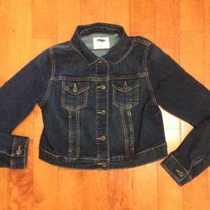 Old navy maternity crop jean denim jacket small